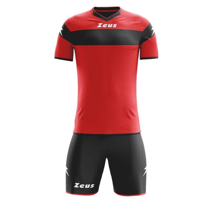 Zeus Apollo Football Kit Red Black