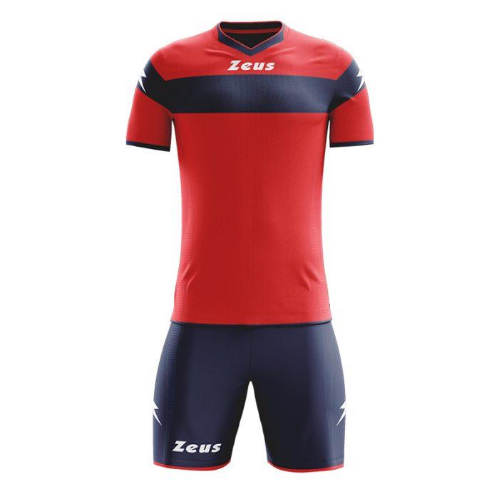 Zeus Apollo Football Kit Red Navy