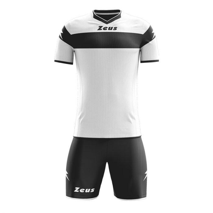Zeus Apollo Football Kit White Black
