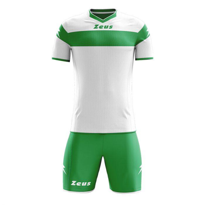 Zeus Apollo Football Kit White Green
