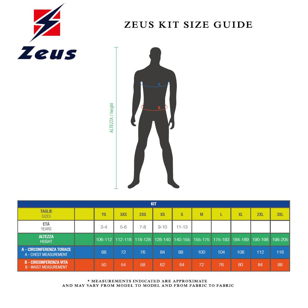 Zeus Kit Size Guide