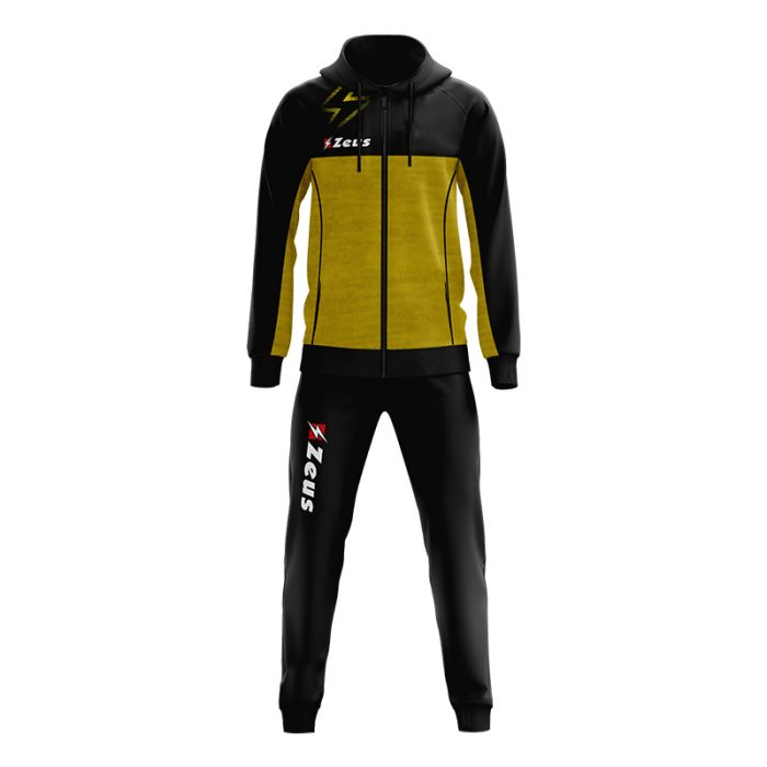 Zeus Olympia Tracksuit Black Yellow