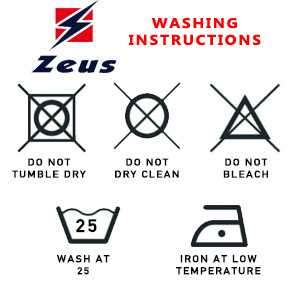 Zeus Washing Instructions